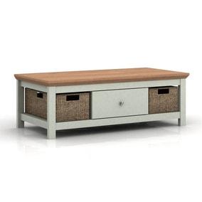 Cotswold Oak Effect Grey Coffee Table