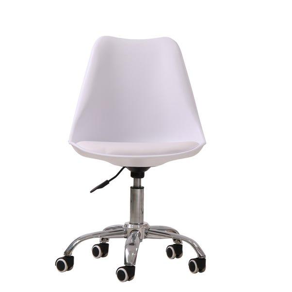 Orsen Swivel Office Chair - White