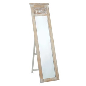 Provence Free Standing White Mirror