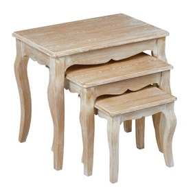 Provence White Nest of 3 Tables