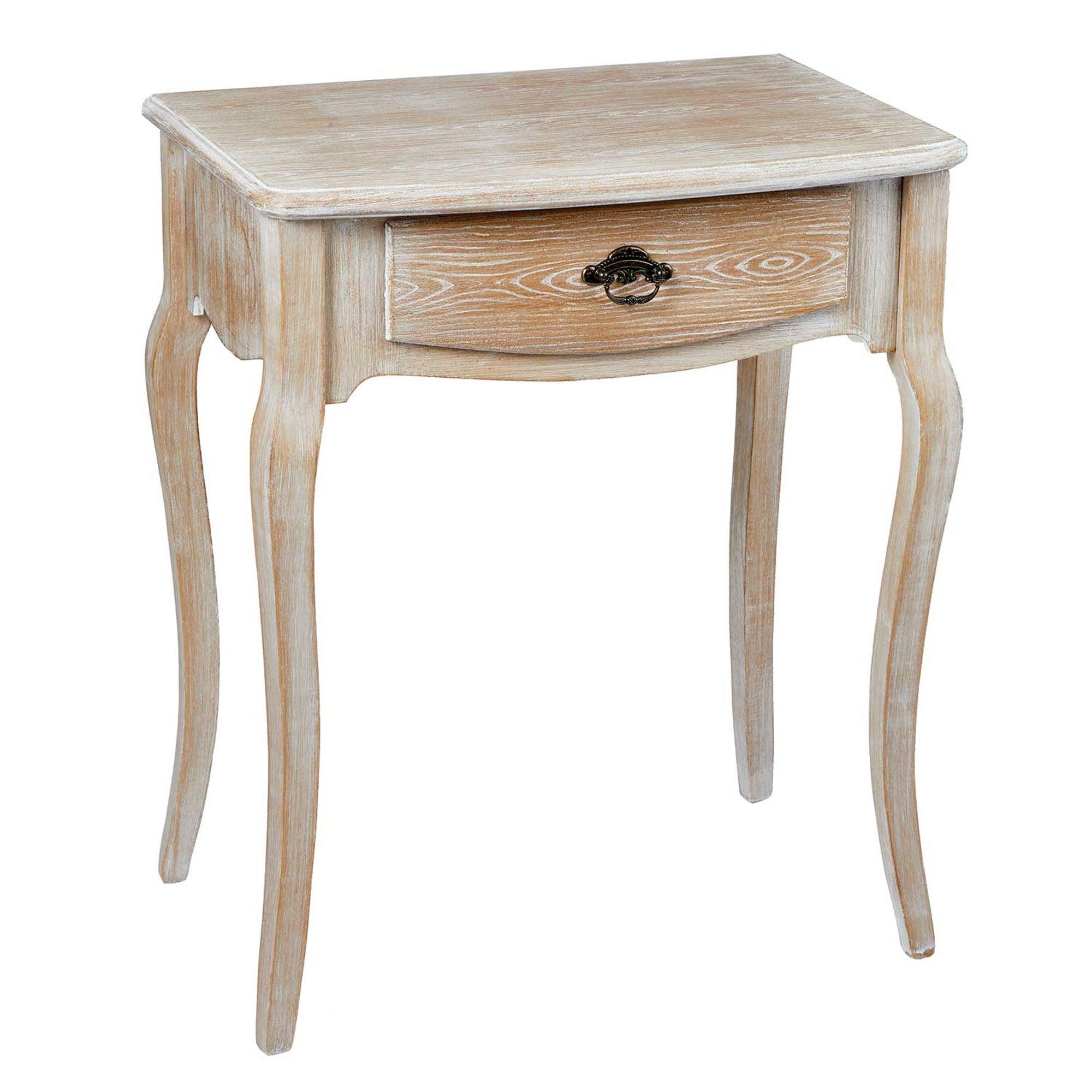 Provence Oak White Lamp Table White