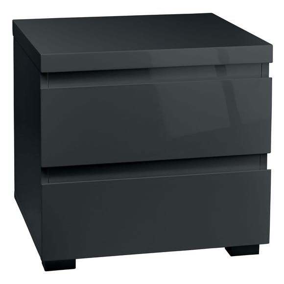 Puro Grey 2 Drawer Bedside Cabinet