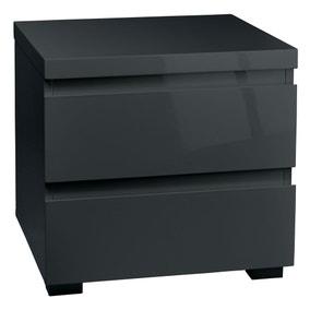 Puro Grey 2 Drawer Bedside Cabinet