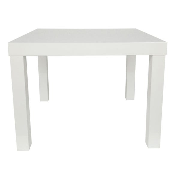 Puro Wooden High Gloss End Table White