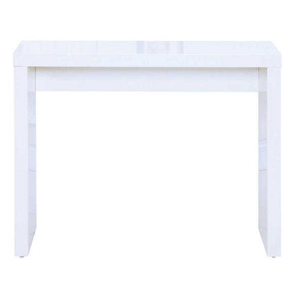 Puro Wooden High Gloss White Console Table