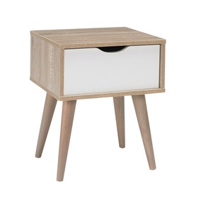 Scandi White End Table