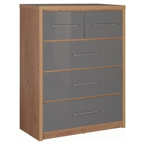 Seville Grey 5 Drawer Chest