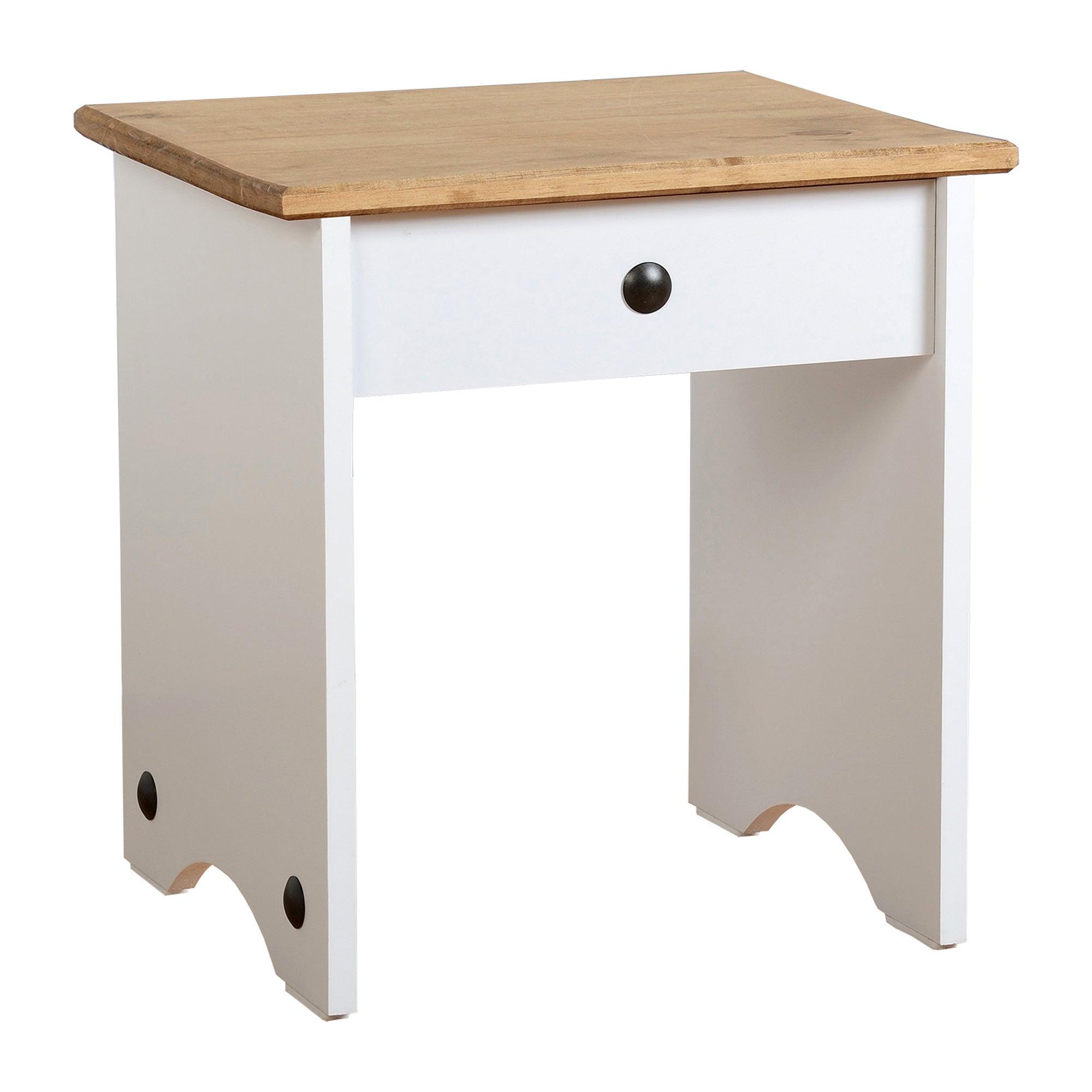 Corona White Dressing Table Stool White