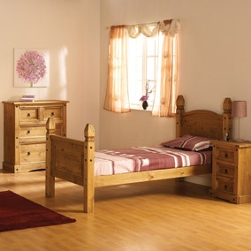 Corona Mexican High Foot End Bed Frame