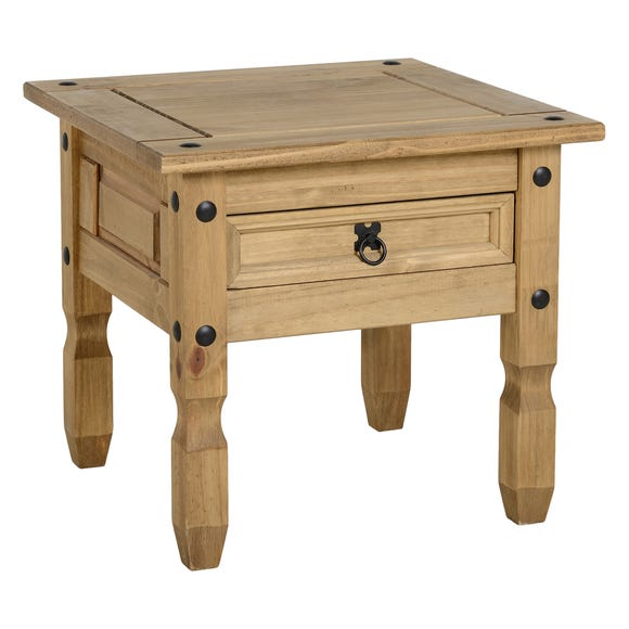 Corona 1 Drawer Pine Lamp Table Natural