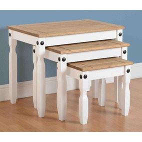 Corona White Nest of Tables