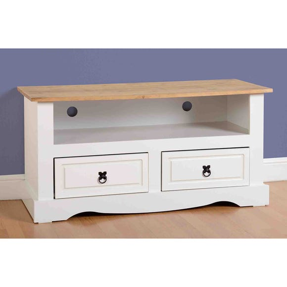 Corona White Flat Screen TV Unit White