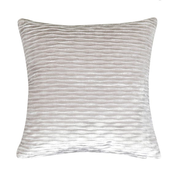 Pleated Velvet Cushion Cover Champagne (Natural) undefined