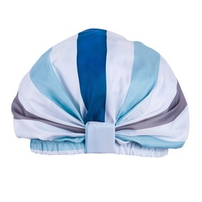 Nautical Bold Stripe Shower Cap