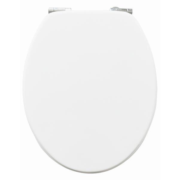 Soft Close White Beechwood Toilet Seat White