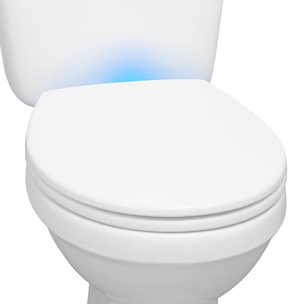 Night Light Toilet Seat White