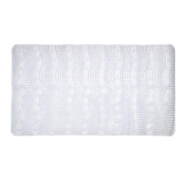 Comfort Waves Clear Bath Mat Clear