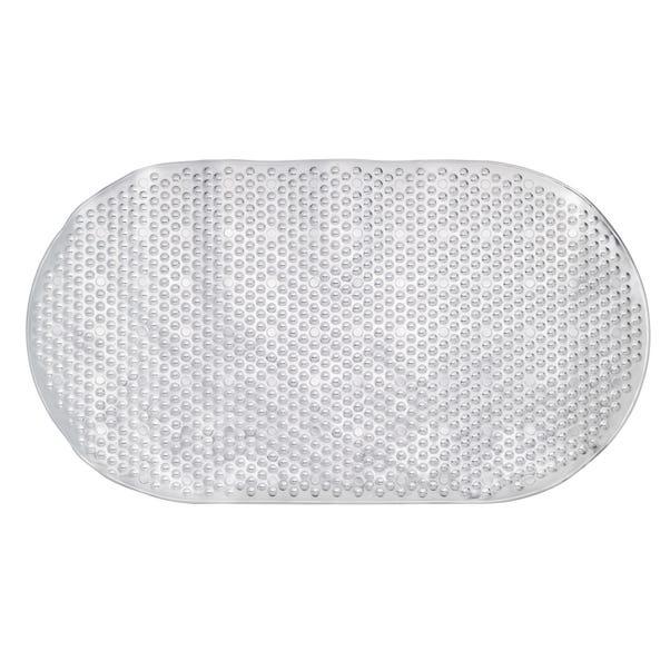 Metallic Silver Bath Mat Silver