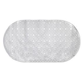Metallic Silver Bath Mat