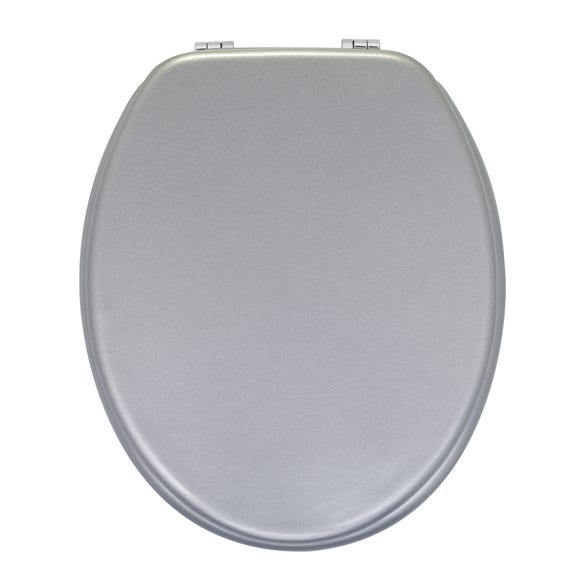 Shimmer MDF Toilet Seat Silver