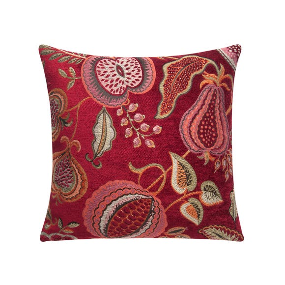 Summer Fruits Red Cushion Cover Red