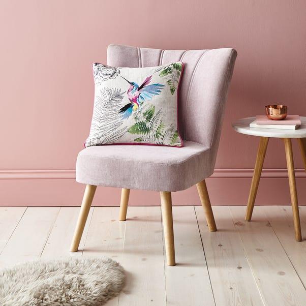 Hummingbird Pink Cushion Pink