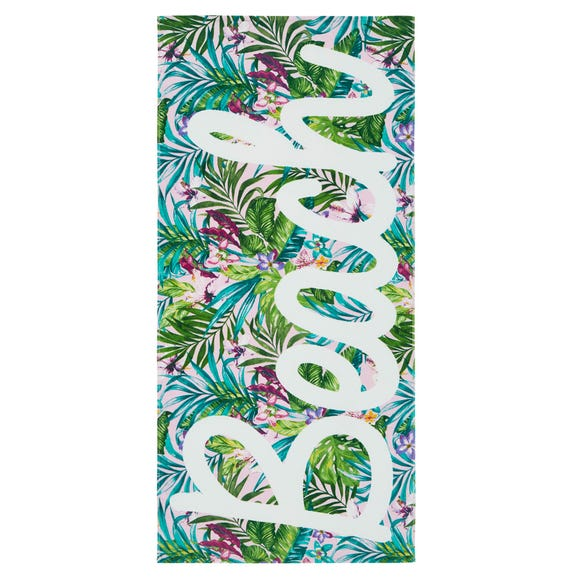 Catherine Lansfield Tropical Multi Coloured Beach Towel Blue undefined