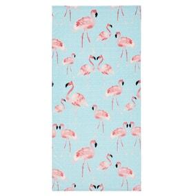 Catherine Lansfield Flamingo 76x160cm Multi Coloured Beach Towel