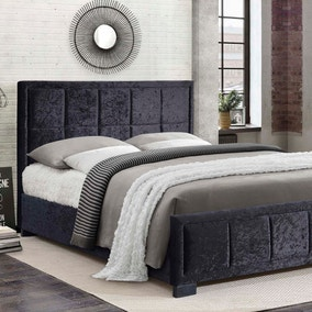 Hannover Black Crushed Velvet Bed Frame