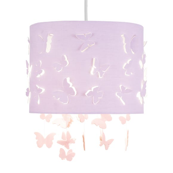 Butterfly Cut Out Pendant Shade Purple