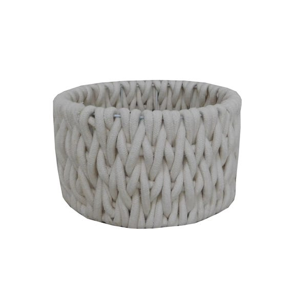 Cable Knit Storage Basket Cream undefined
