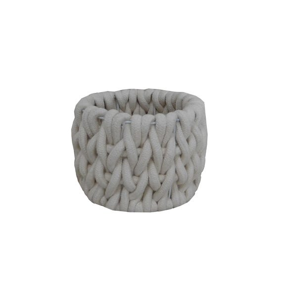 Cable Knit Storage Basket  undefined