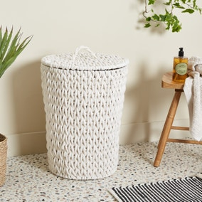 Cable Knit Laundry Basket