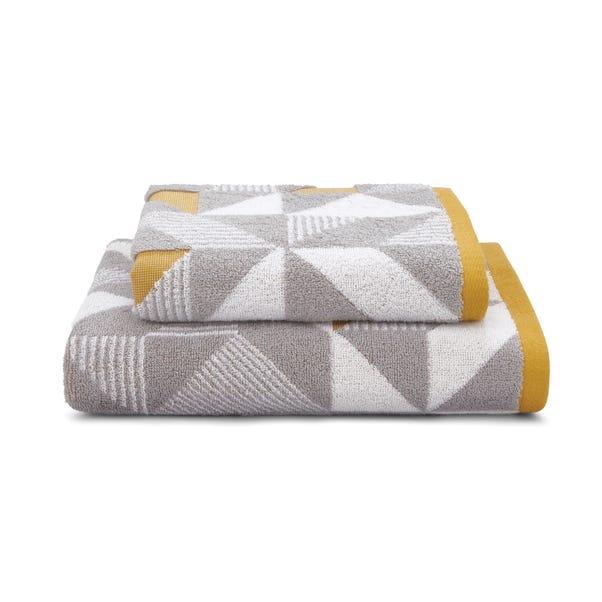 Elements Geo Ochre Towel  undefined