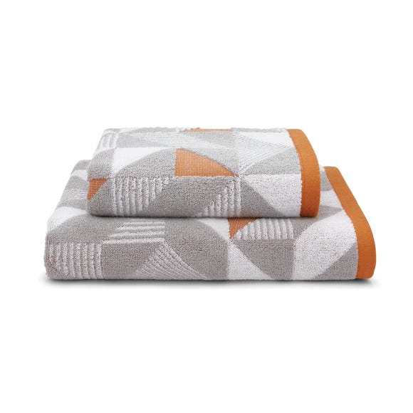 Elements Geo Paprika Towel  undefined