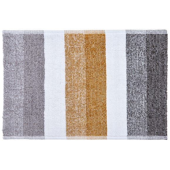 Elements Stripe Ochre Bath Mat