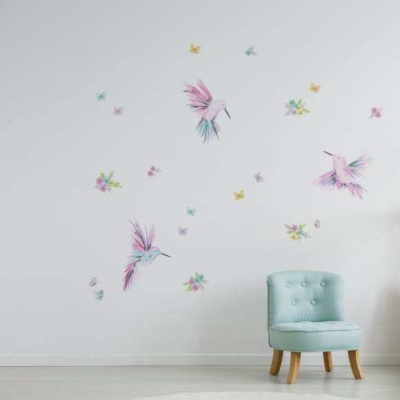 Little Hummingbirds Wall Stickers Pink