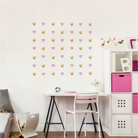 Hearts Wall Stickers Pink