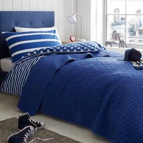 Blue Stars Bedspread