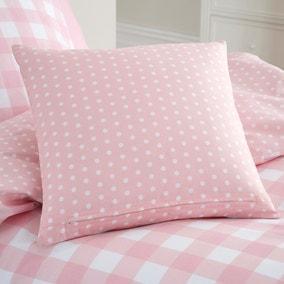 Gingham Pink Reversible Cushion