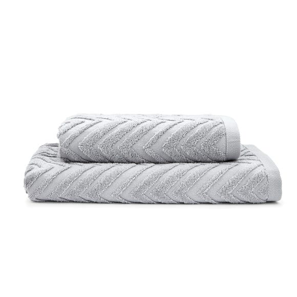 Chevron Sculptured Silver Towel  undefined