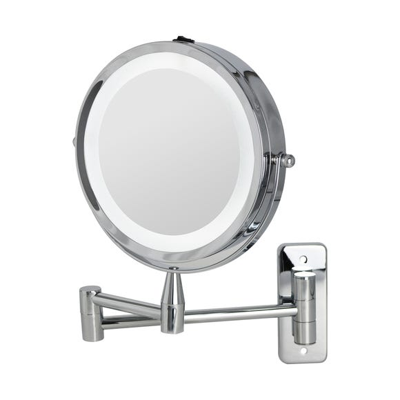 7 Inch Double Sided LED Wall Mirror Silver