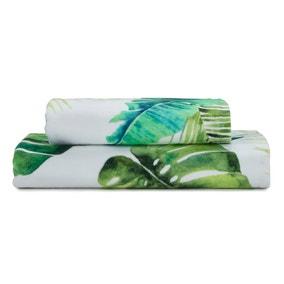 Tropical Leaf Digitally Printed Bath Towel