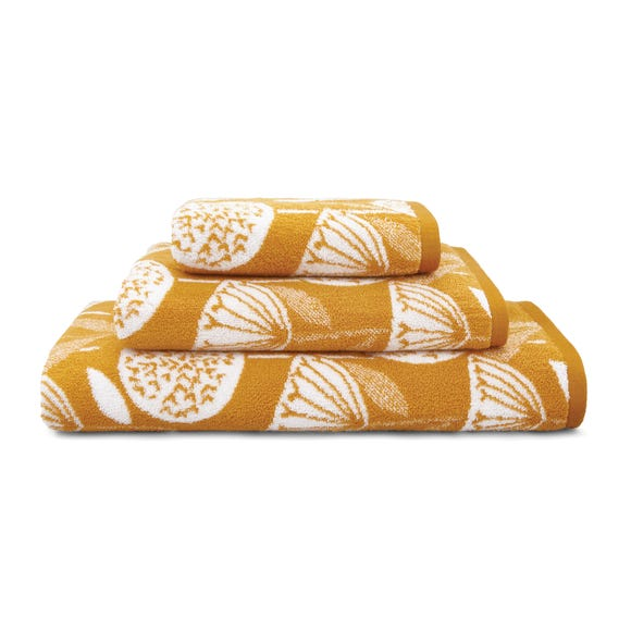 Elements Emmott Ochre Towel  undefined