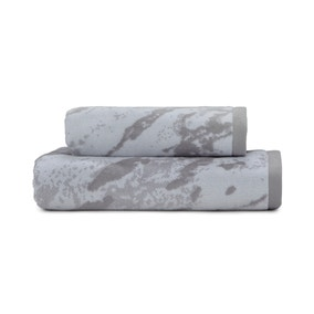 Grey Marble Bath Towel