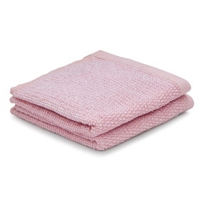 Pack of 2 Blush Marl Face Cloths
