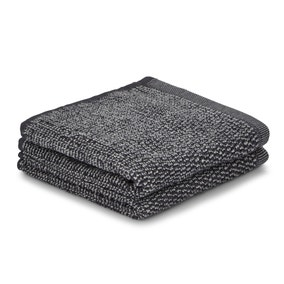 Pack of 2 Charcoal Marl Face Cloths