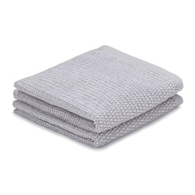 Pack of 2 Silver Marl Face Cloths