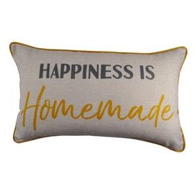 Happiness is Homemade Ochre Cushion