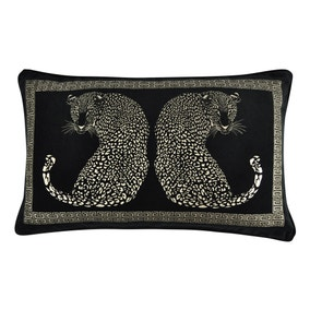 5A Fifth Avenue Black Leopard Cushion